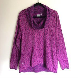 ATHLETA Tranquility Space Dye Cowl Neck Sweatshirt